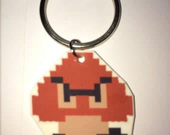 Goomba - Super Mario Bros Plastic Keychain