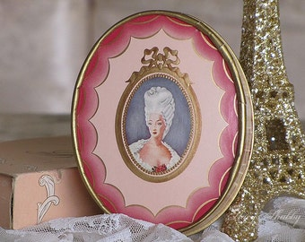 Exquisite Madame DU BARRY Face POWDER By Richard Hudnut, New York, Paris, Talcum Powder, French Decor