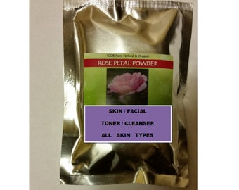 Rose Powder, Facial / Skin  Toner / Cleanser, 100%  Pure, Natural, Organic, 50grams