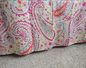 Design Your Nursery Items -  Watercolor Paisley in aqua, coral, orchid and pink- changing pad cover, sheet, blanket, skirt and more
