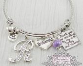 BRIDESMAID Gift - Personalized Wedding Bracelet, Bridesmaid Jewelry-Expandable Bangle -Gift from Bride, Wedding Bridesmaids Gifts -Keepsake
