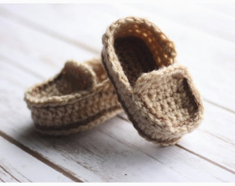 Crochet Baby Loafers-Newborn, Infant