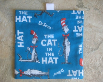 The Cat in the Hat Bag - Reusable Sandwich Bag, Reusable Snack Bag with easy open tabs