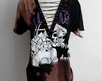 Misfits Lace Up Punk Rock Band Top T Shirt