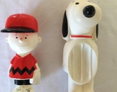 Charlie Brown Avon Shampoo Bottle and Snoopy Soap Holder