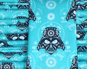 Darth Vader Fabric, Star Wars Fabric, By the Yard, Darth Sugar Skull, Sugar Skulls, Star Wars Villain,  Camelot Fabrics