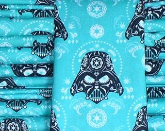 """Darth Vader Fabric, Star Wars Fabric, 16"""" by 44"""" , Darth Sugar Skull, Sugar Skulls, Star Wars Villain,  Camelot Fabrics"""