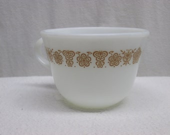 Pyrex Coffee cup, Butterfly Gold Pattern pyrex cup