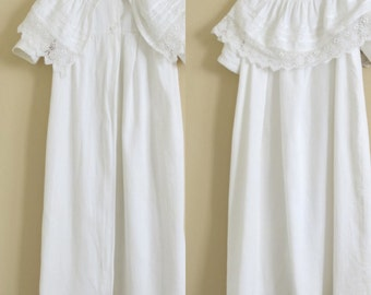 Victorian Christening Coat Long White Bedfrod Cord Lace and Tuck Trims 282b