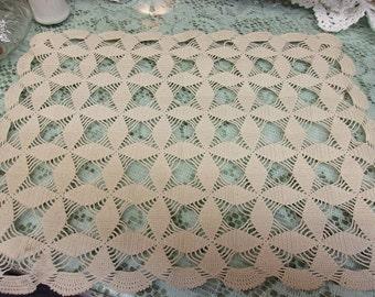 Vintage Ecru Crochet Doily