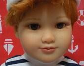 Fits 18 Inch Kidz 'n' Cats Boy Doll .. White Sailor Hat .. D217