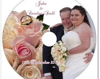 20 Nos. Ready to use CD/DVD sticker,Wedding,anniversay,birthday Photography,label,Custom Designed Personalized with Photo,Text & Colors