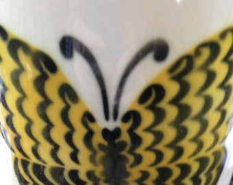 Vintage Arabia of Finland Butterfly Pitcher Collectible Mid-Century