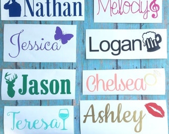 Arrow Name Vinyl Decal Personalized Vinyl Name Decal Any - Custom made vinyl decals