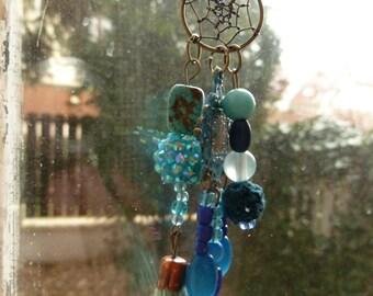 Blue dreams boho  upcycled necklace