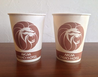 Las Vegas Paper Coin Cup MGM Grand Casino