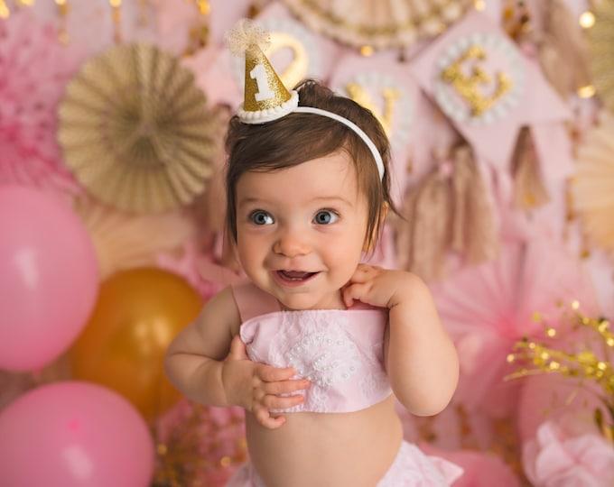 Girl Pink Lace Ruffled Bloomer set Cake smash Outfit