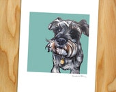 """8x10 Signed Print of """"Peter"""" the Miniature Schnauzer"""