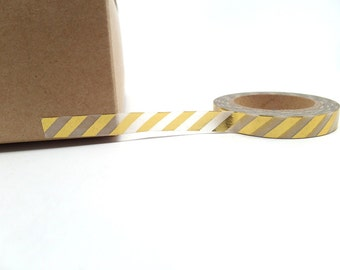 Gold Stripe Washi Tape Slim Washi Tape