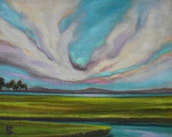 Marsh Original oil by Carin Vaughn