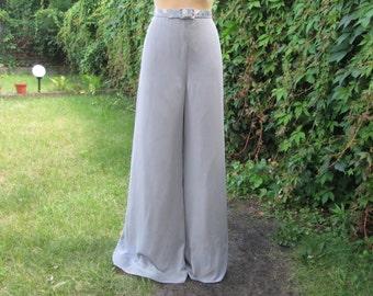 Women Pants / Womens Pants / For Tall Girls / Woman / Gray Pants / Grey / Lining / Size EUR40 / UK12