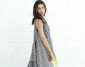 Valentines day Patch Dress, Geo Diamond print