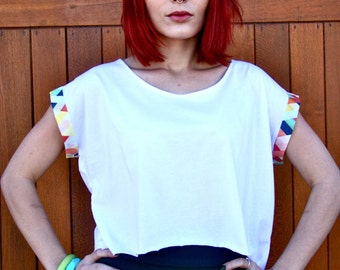 Women's Cropped T-shirt, Organic Cotton Crop Tee - Sustainable  Fashion, Eco Conscious Slow fashion *Free International Shipping*