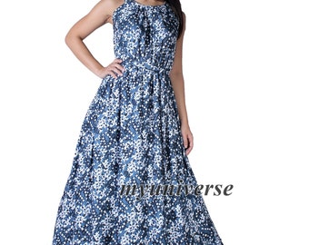 Women Plus Sizes Clothing Long Maxi Dress Floral Maternity Dress Unique Blue Casual Beach Party Wedding Guest Blue Designer Summer Sundress