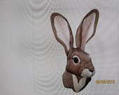 JACK RABBIT, Intarsia carved by Rakowoods; custom order