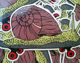 Sweet Skateboarding Snail Vinyl Sticker