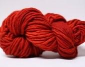Single Ply Yarn Merino Slub Hand Dyed 44sp15024 Red
