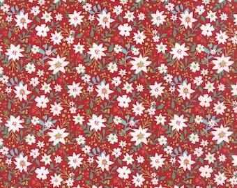 Juniper Berry Merrily in Poinsettia Red, BasicGrey, 100% Cotton, Moda Fabrics, 30432 16