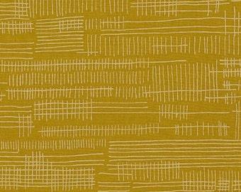 Carkai Stitches in Pickle, Carolyn Friedlander, Robert Kaufman Fabrics, 100% Cotton Fabric, AFR-15796-341 PICKLE