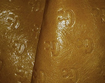 Lambskin/Yellow/ Leather piece .Print/Leather/Lamb /Leather Piece.Leather craft/ Craft Supplies/ Genuine Leather.