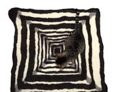 Wool Cat Mat - Hand Felted Throw Rug - Cat Bed - Boxes