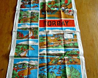 Tea Towel Souvenir Tea Towels Torbay The English Riviera England Irish Linen