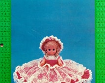 """20%OFF Td Creations JENNIFER 13"""" Bed Doll - Crochet Doll Dress Clothes Clothing Pattern"""