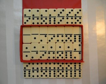 DOMINOES, Double Six Domino Set by Cardinal