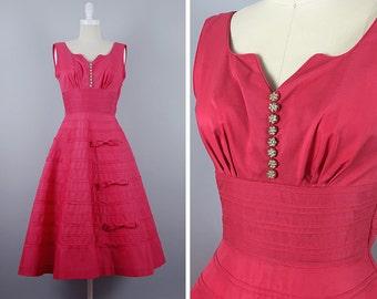 Pink 50s Dress --> 1950s Dress -->  1950s Party Dress --> Dress 1950 --> 1950 Dress --> 50s Party Dress --> Pink Dress --> 50s Prom Dress