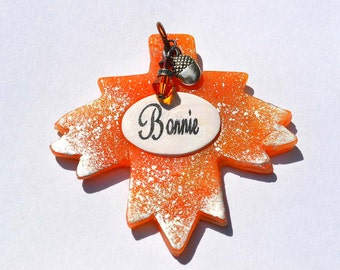Autumn Leaf Dog Tag / Pet Tag / I.D. Tag