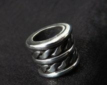 Silver beard bead