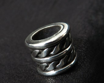 Silver beard bead (7mm)