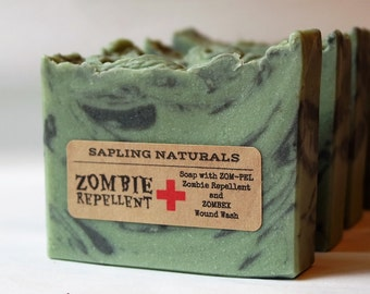 Zombie Repellent Soap - great gift for men, nerds, survivalists