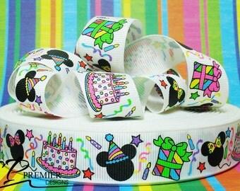 "7/8"" Birthday Grosgrain Ribbon"