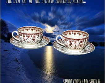 Spode-Copeland Cups and Saucers