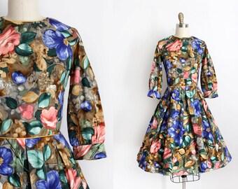 CLEARANCE vintage 1960s dress // 60s floral dress