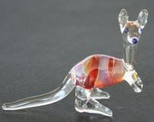 GLASS KANGAROO Handcrafted in Australia Glass animal