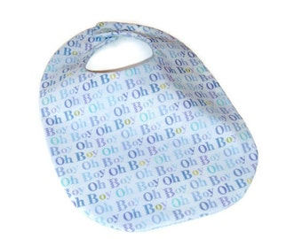 Baby Boy Bib - Boy Oh Boy - Baby Gift Under 10