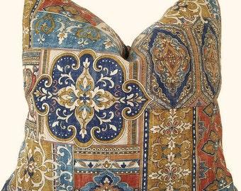 Ethnic Pillow Cover - Boho Pillow - Global Pillow - Old World - Ethnic Lumbar Pillow - Boho Shams - Block Print - Boho Throw Pillow
