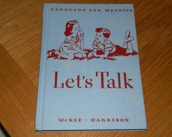 "Children's Learning Book-""Let's Talk"""